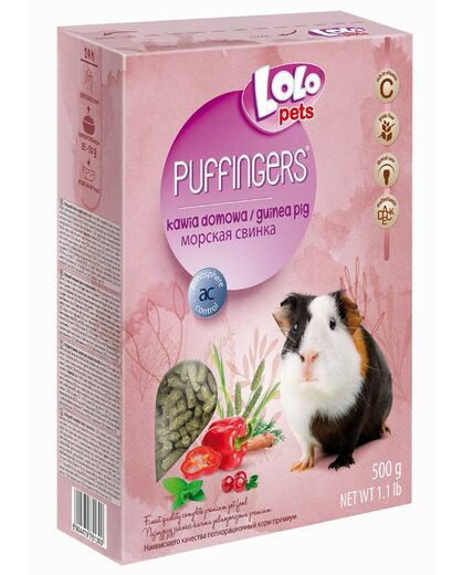 Lolo Pets -  PUFFINGERS complete food for guinea pig