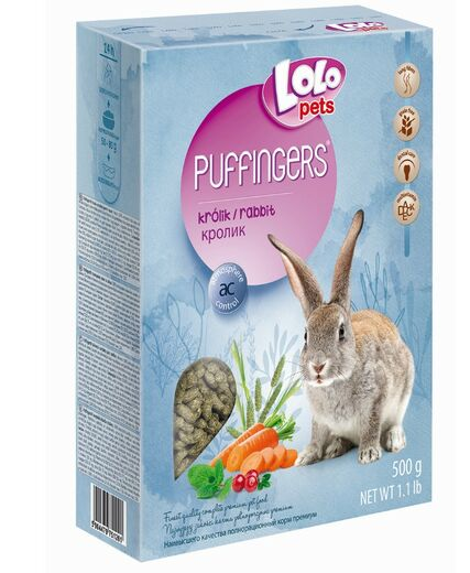 Lolo Pets -  PUFFINGERS complete food for rabbit